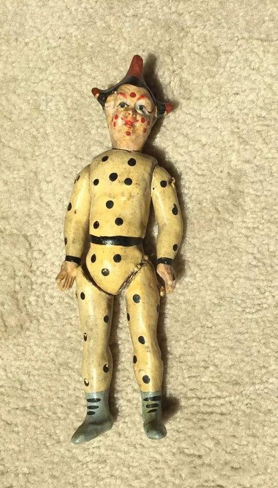 Antique German Bisque Doll Court Jester
