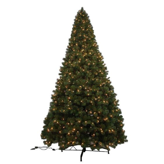12 Ft Noble Fir Quick Set Artificial Christmas Tree With 1450 Clear Lights Greens Pre Lit Christmas Tree Christmas Tree Lighting Christmas Tree