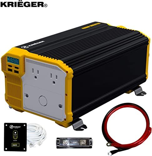 Enjoy Exclusive For Krieger 4000 Watts Power Inverter 12v 110v Modified Sine Wave Car Inverter Dual 110 Volt Ac Outlets Hardwire Kit Dc Ac Converter Inst In 2020 Power Inverters Sine Wave Solar Inverter