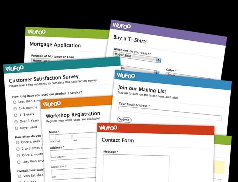 Examples of Online Form Integrations Wufoo EdTech Pinterest - survey form template