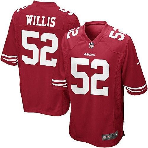 Nike Elite Youth San Francisco 49ers http://#52 Patrick Willis Team Color Red NFL Jersey$79.99