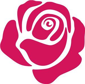 Plantilla de rosa