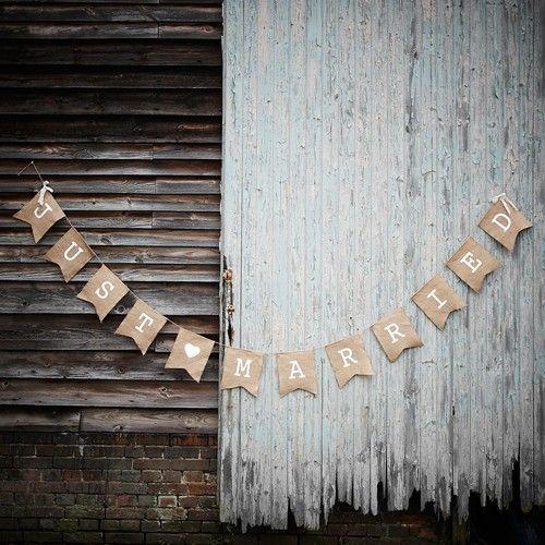Girlande Just Married Vintage Hochzeitsshop Hochzeitswimpel Frisch Verheiratet