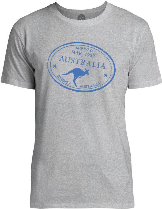 Australia Passport Stamp (Blue) Mens Fine Jersey T-Shirt
