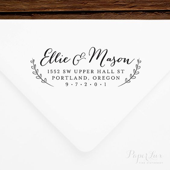 Get a custom stamp for yourself, or give as a gift to newlyweds, for the holidays, or for a house warming. This is a personalized, rubber