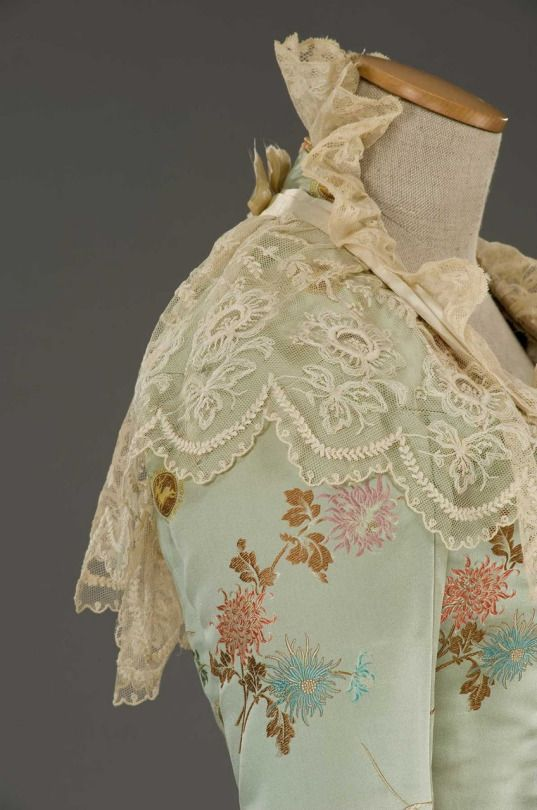 Lovely lacework and embroidery...