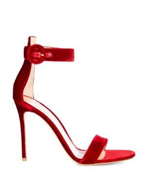 Gianvito Rossi Portofino sandálias de veludo