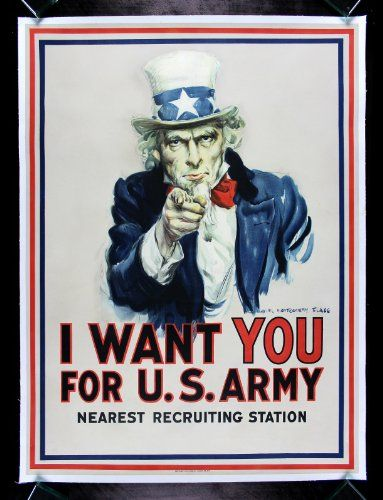 I WANT YOU FOR U.S. ARMY * CineMasterpieces ORIGINAL WW1 PROPAGANDA POSTER UNCLE SAM 1917 CineMasterpieces,http://www.amazon.com/dp/B00D4EALJY/ref=cm_sw_r_pi_dp_mGOetb0TJXH6YVE7