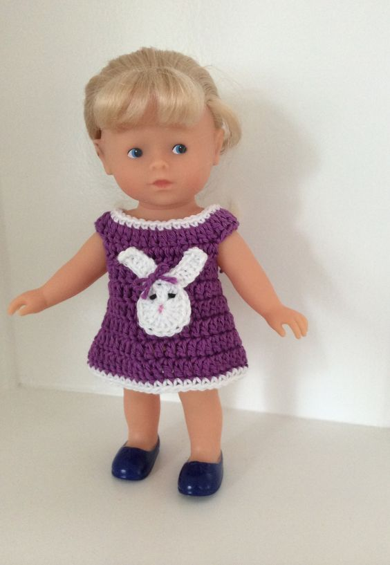 Robe au crochet pour poupées 28 cm Corolline Corolle : Jeux, jouets par la-mesangerie