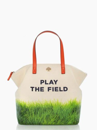 NWT Kate Spade Call to Action Play The Field Terry Style Handbag  www.TheConsignmentBag.com We ship Worldwide and New Items arrive daily! Follow us and have items delivered straight to your front door! #playthefield #KateSpade #totes #gifts #handbags