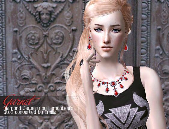 LemonLeaf Diamond Jewelry Converted to Sims 2