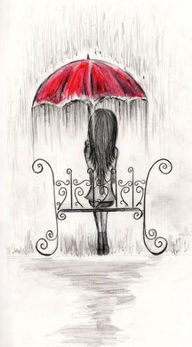 umbrellas.quenalbertini: Sat down under the rain via handbagsandhandguns: