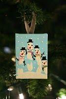 Hand print snowmen