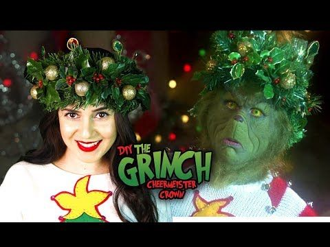 104) DIY THE GRINCH HOLIDAY CHEERMEISTER CROWN || Lucykiins