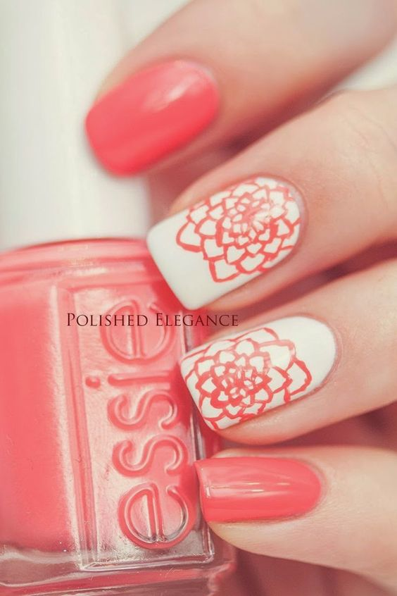 Perfect Valeintines day nail art