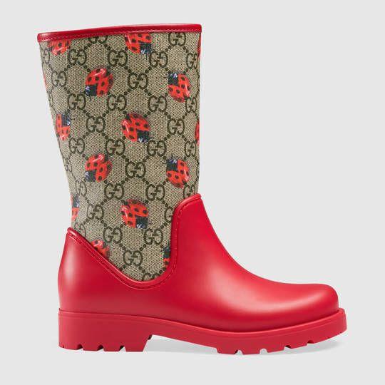 Gucci Children's GG ladybugs rain boot