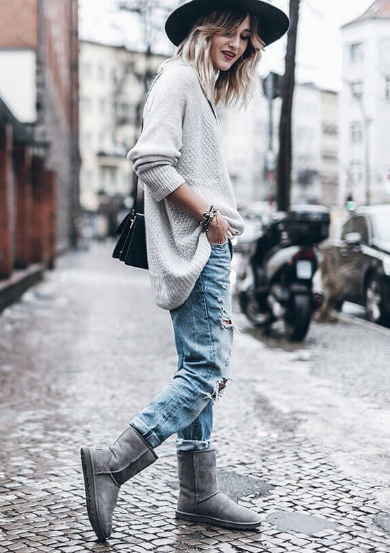 Ugg classic grey-  outfit   #myCLASSICstyle:
