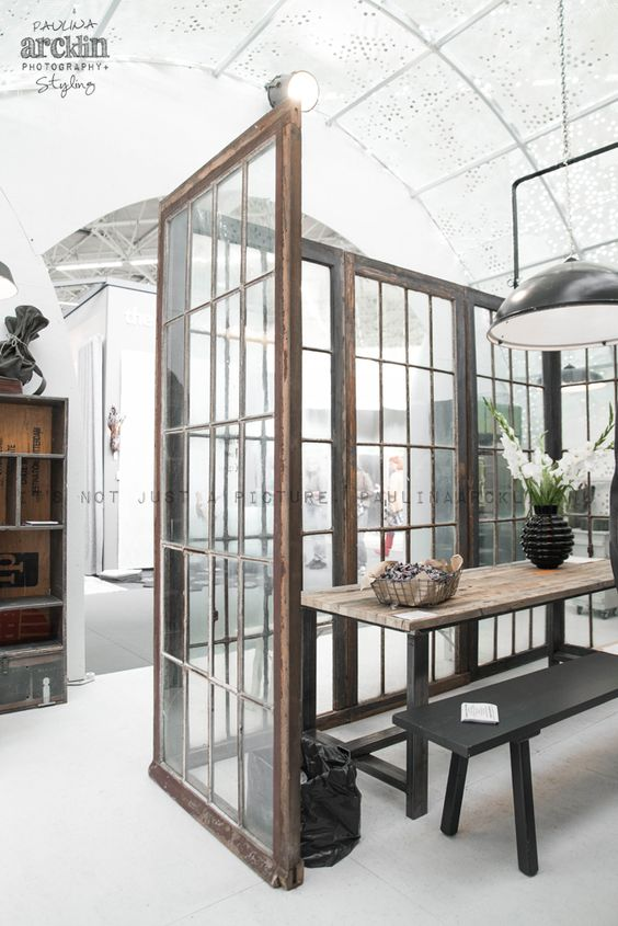 Art deco style be cool and industrial on pinterest for Industrial room dividers