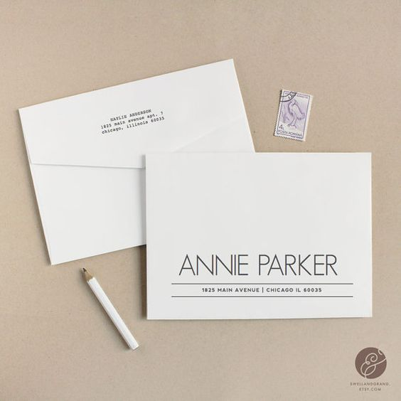 Printable Wedding Envelope Template | INSTANT DOWNLOAD | Parker | Calligraphy Alternative | for Word or Pages Mac & PC