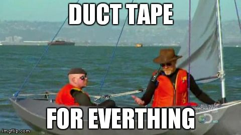Duct Tape Is Not A Perfect Solution To Anything But With Little Creativity In Pinch Its An Adequate Just About Everything