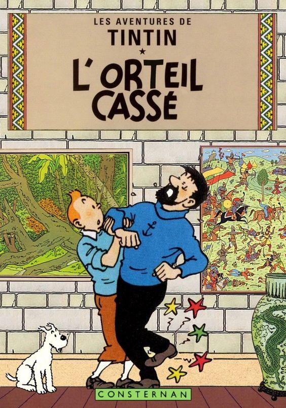 Tintin - L'orteil casse' by Bispro on deviantART:
