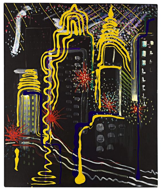 City painting II, by Sigmar Polke, 1968