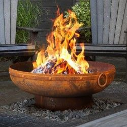 Gobi 90cm Rust Indian Kadhai Fire Pit 90cm Fire Gobi Indian Kadhai Pit Even If The Topo Outdoor Fire Pit Designs Outdoor Fire Pit Fire Pit Designs