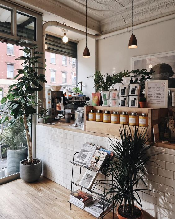 Just For Aesthetic Space Of Retail Portion Coffee Shop Design Coffee Shop Decor Small Coffee Shop
