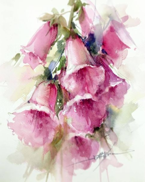 Gleznas 1 Image By Daiga In 2020 Watercolor Flowers Paintings
