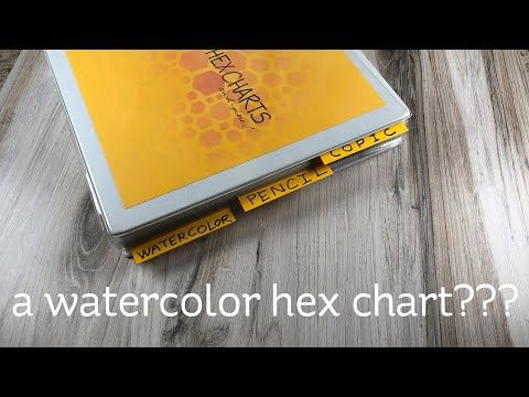 47 A Watercolor Hex Chart Youtube Chart Creative Video