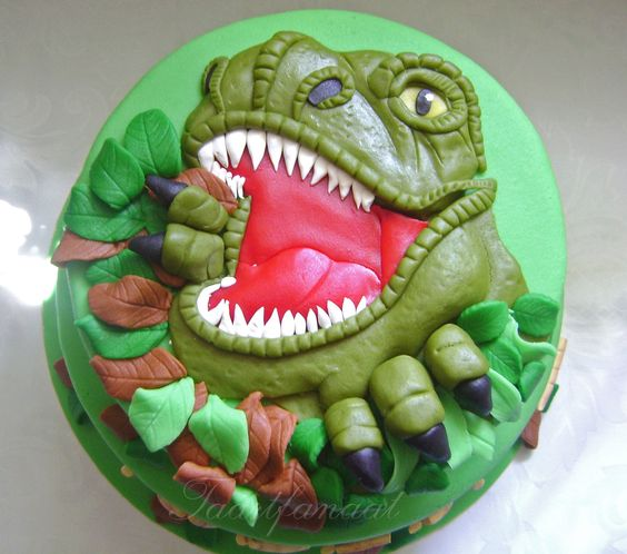 Dinosaur Cake Decorations Uk : Dinosaur cake, Cakes and Galleries on Pinterest