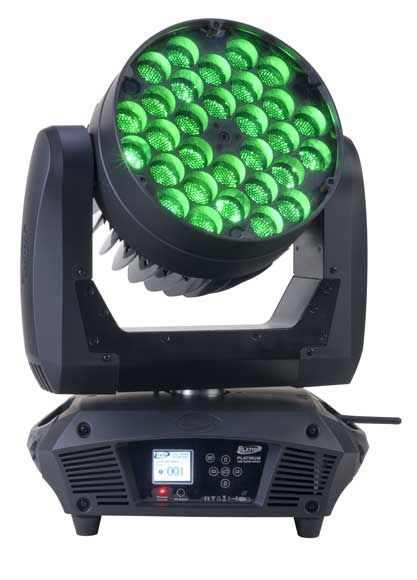 Elation Platinum Wash LED Zoom  - Sku #EPW625. High Power Wash Moving Head With Zoom   . 300W Quad Color LED System Comparable To 575 Wash   . 50,000 Hour Solid State LED Lamp Source Life   . Platinum Series Style Base / Touch Screen Display.  Contact us for the LPR price. (407)967-7716. sales@mylpr.com