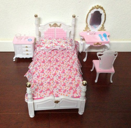 barbie size dollhouse furniture bed room beauty play set my fancy life http amazoncom barbie size dollhouse
