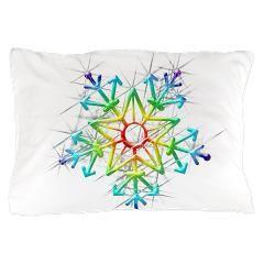 Snowflake Star Pillow Case