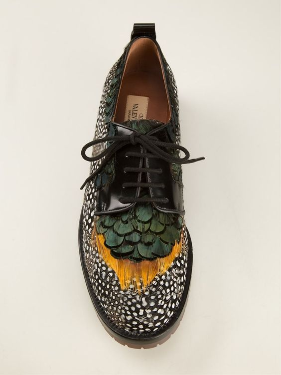 Does your dad have the alternative look make it Valentino Garavani Feather Brogues - Stefania Mode - Farfetch.com