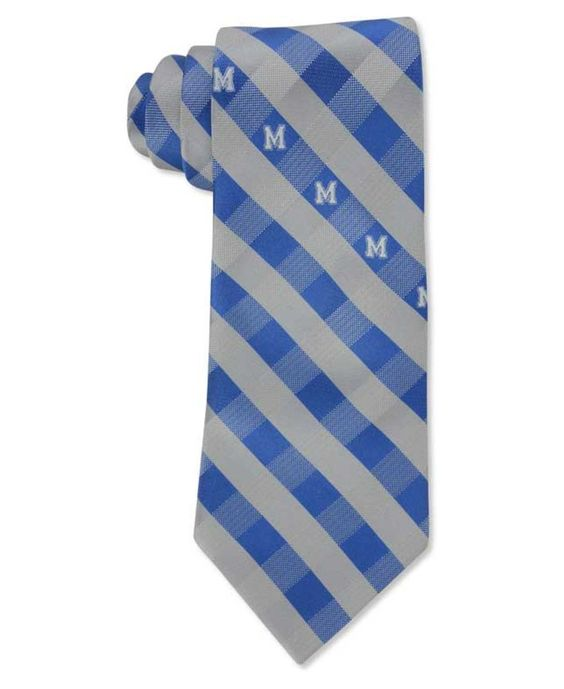 Eagles Wings Memphis Tigers Checked Tie