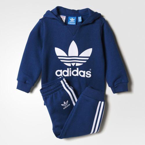 adidas 'Mini Me Tracksuit' Brushed Sweatshirt & Sweatpants