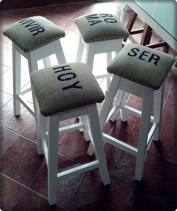 Banco taburte tapizado banco alto banco de dise o 380 00 en mercadolibre elementos - Banco tapizado ...
