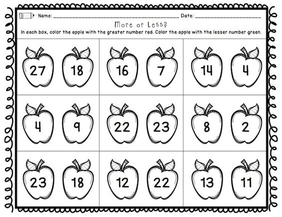 First Grade Back to School Printables Math and ELA – Cut and Paste Math Worksheets