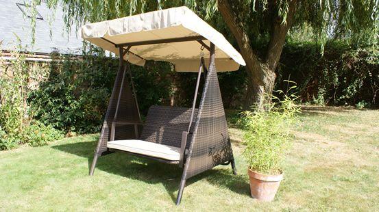 rattan furniture hyatt swing seat with canopy