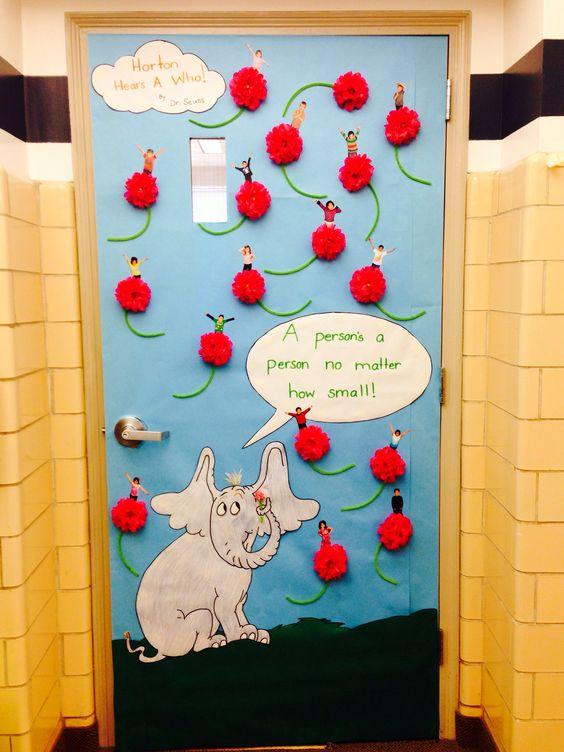 "Read Across America ""Horton Hears A Who!"" door decorating contest"