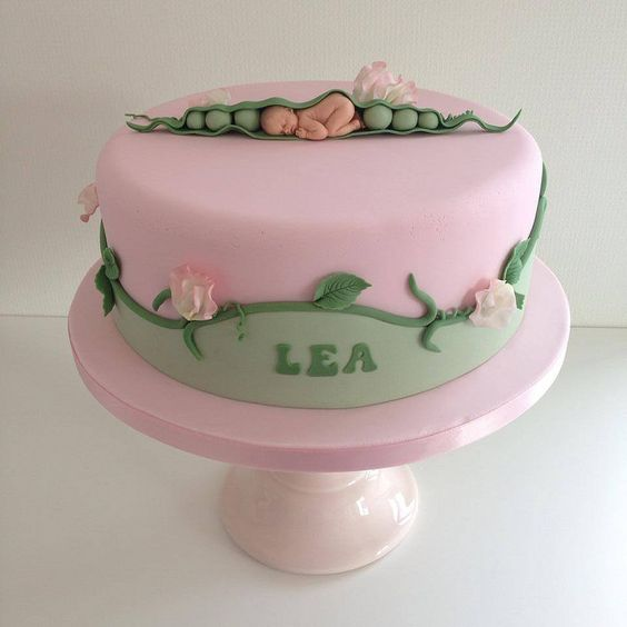 sweet pea baby cake taufe pinterest kuchen s und baby. Black Bedroom Furniture Sets. Home Design Ideas