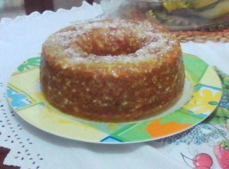 Receita de Bolo Bagaço - Bolo Bagaço Ingredientes - 1 laranja inteira picada com casca e bagaço (sem as sementes) - 3 ovos - 1 xícara (chá) de óleo comestível - 1...