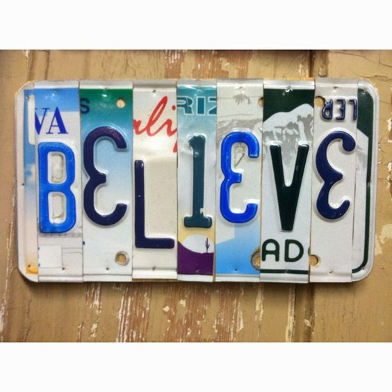 License Plate Word Collage - I love this!!