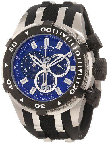 Invicta Men's 0977 Bolt II Reserve Chronograph Blue Dial Watch Invicta. $214.99. Save 86%!