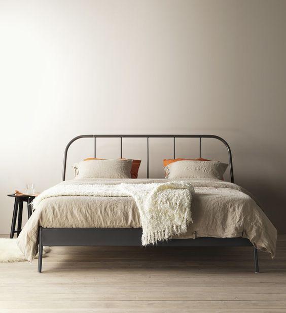 ikea beds and bed frames on pinterest. Black Bedroom Furniture Sets. Home Design Ideas