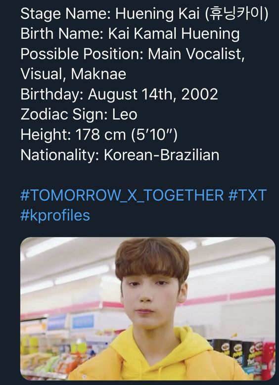 Huening Kai Txt Profile Info Facts Tomorrow X Together C Txt Staff Txt Boy Groups Kpop Memes The group made their debut on march 4, 2019 with the ep. pinterest