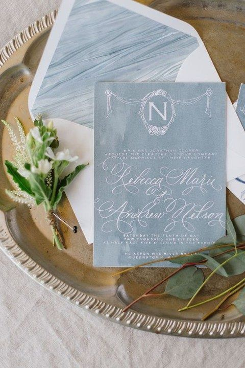 Coastal And Beach watercolour Wedding Stationary Ideas