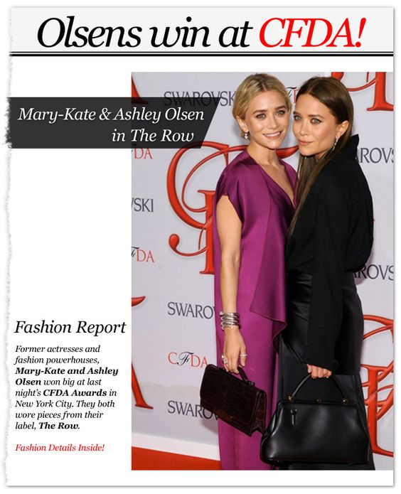 The Olsen twins win BIG at the #CFDA Awards!