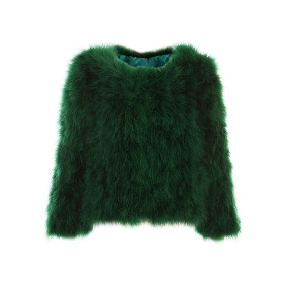 Retro Faux Fur Green Coat (¥19,785) ❤ liked on Polyvore featuring outerwear, coats, tops, jackets, sweaters, green coat, short coat, faux fur coats, long sleeve coat and imitation fur coats